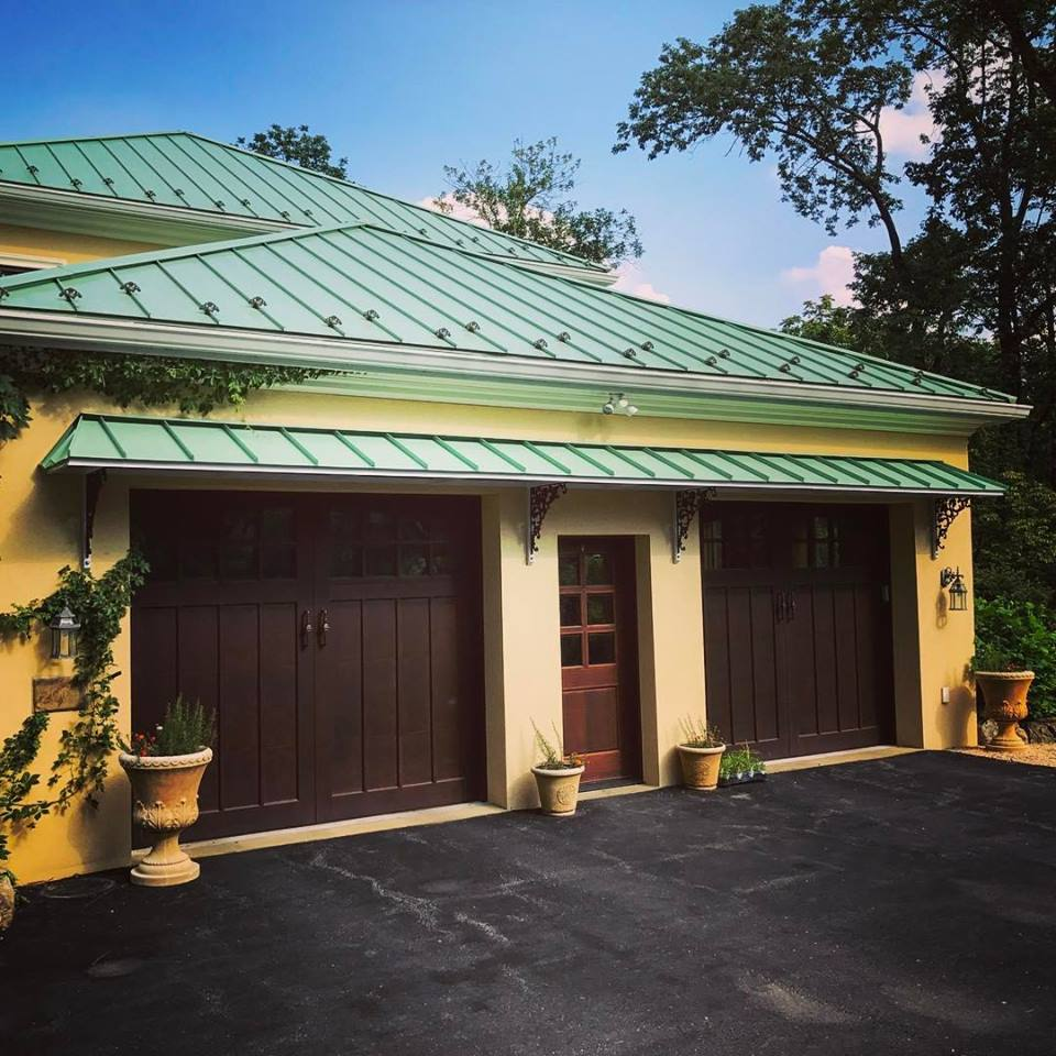 Standing Seam Metal Roof In Green