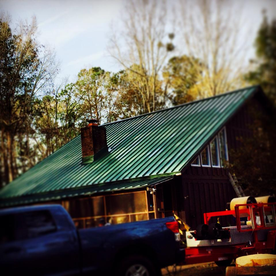 Forrest Green Standing Seam Metal Roof