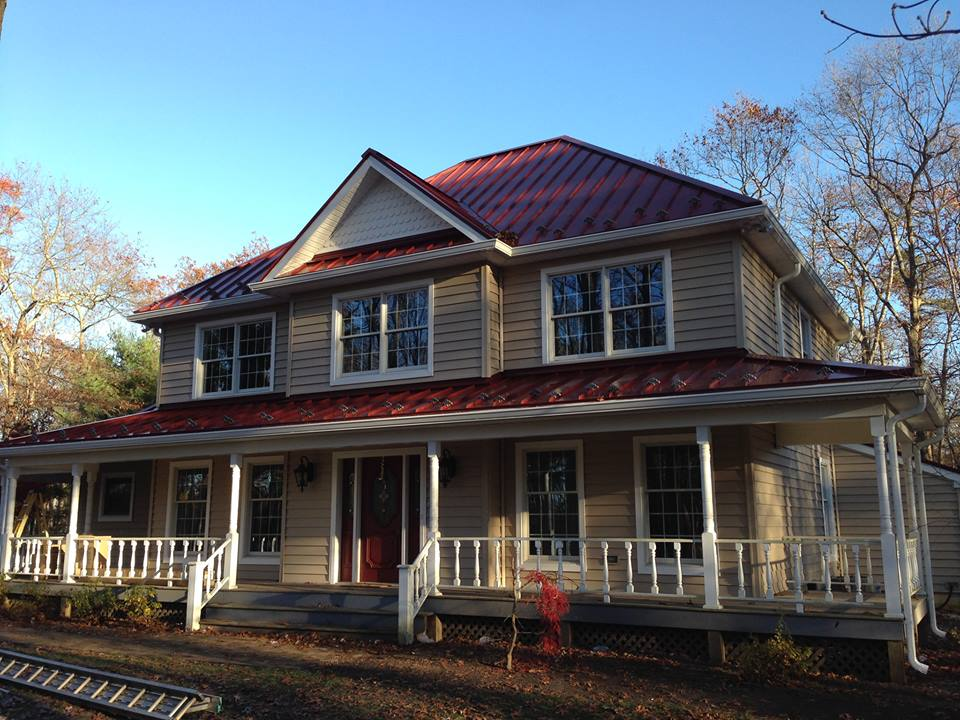 Metal Roof Standing Seam Colonial Red